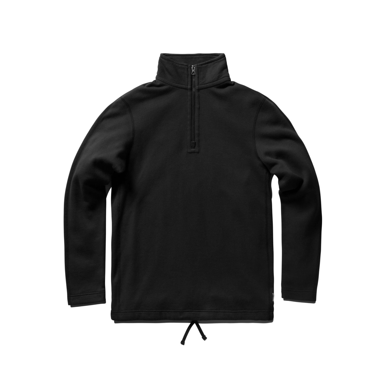 REIGNING CHAMP MESH DOUBLE KNIT HALF ZIP LONG SLEEVE SHIRT