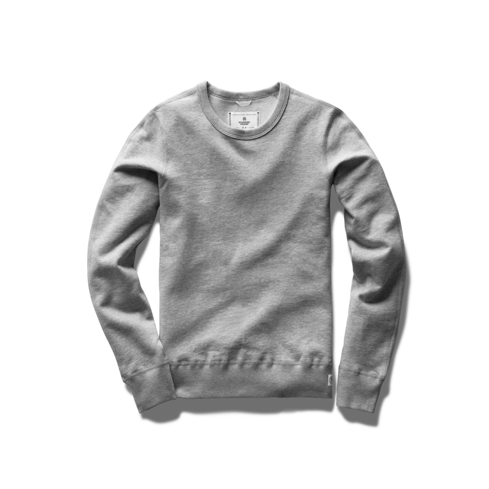 REIGNING CHAMP WOMENS CORE CREWNECK HEATHER GREY